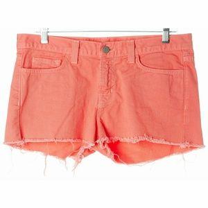J Brand Coral Cut Off Frayed Mini Short 28